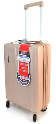 New Lightweight Hard Shell 4 Wheels Spinner Cabin Hand Luggage Trolley Bag Case