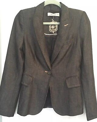 ZARA LIMITED EDITION DK GREY WOOL/LINEN Single Breasted JACKET Size S