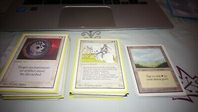 mtg 166 unlimited part set lot - uncommon and commons i believe