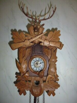 black forest cuckoo clock fully working hunter style