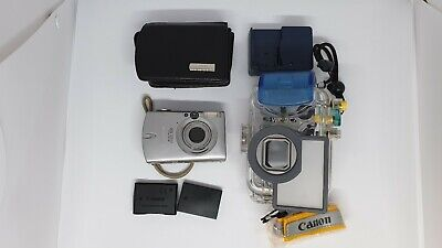 Canon IXUS 700 compact 7.1 Megapixels Camera with WP-DC70 40M Waterproof housing
