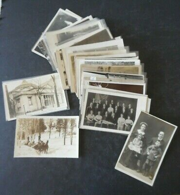 Lot of 100 RP Real Photo Postcard Postcards People Places Views Most Early 1900s