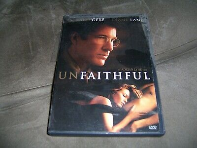 Unfaithful (DVD, 2002, Widescreen) Adrian Lyne Diane Lane Richard Gere VG