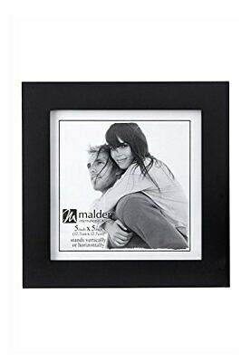 Malden 5x5 Picture Frame, Wide Real Wood Molding, Real Glass, Black