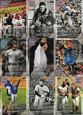2019 Topps Series 2 150 YEARS OF BASEBALL GREATEST MOMENTS Inserts (U-Pick)