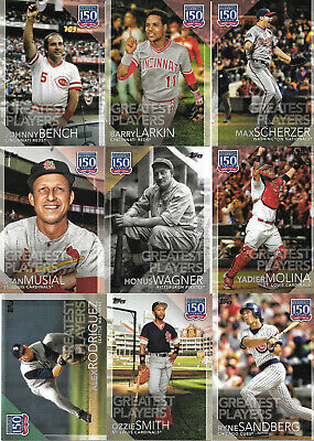 2019 Topps Series 2 150 YEARS OF BASEBALL GREATEST PLAYERS Inserts (U-Pick)