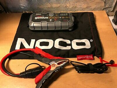 NOCO Genius GB40 Boost+ 12v 1000 Amp Lithium Car Battery Jump Starter SnapOn