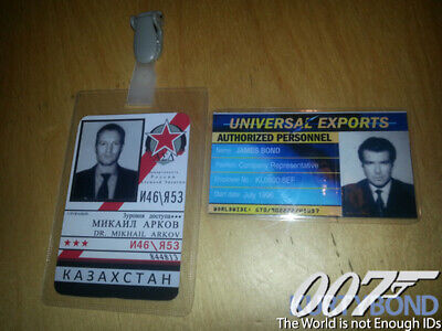 James Bond The World Is Not Enough Id Badges Prop Replicas