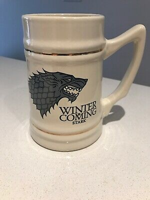 Game of Thrones Winter is Coming Stark Ceramic Stein