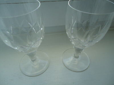 Pair Of Signed Stuart Crystal Port Glasses - Carlingford Pattern