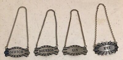 Liquor Decanter Tags Labels Scotch Bourbon Gin Rye