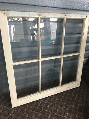 Old Vintage Antique Shabby Chic Window Frame 6 Pane From