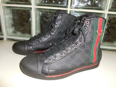 66d46224ed1 GUCCI MEN'S BURGUNDY Red Suede Leather Nubuck High-Top Sneaker Boot ...