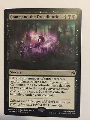 Command the Dreadhorde - Magic the Gathering MTG - War of the Spark