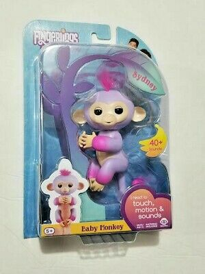 Fingerlings Two Tone Baby Monkey Sydney Interactive Toy Authentic - #3721 NIP