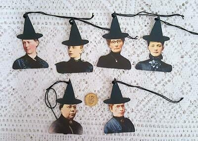Halloween~Primitive~Witch~Vintage~Heads~Heavy Smooth Cardstock~Paper Die Cuts