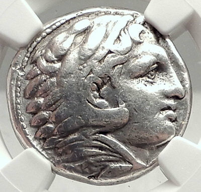 ALEXANDER III the GREAT Lifetime TETRADRACHM 325BC Silver Greek Coin NGC i73057
