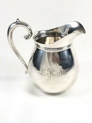WALLACE STERLING SILVER WATER PITCHER With LRM Monogram #260