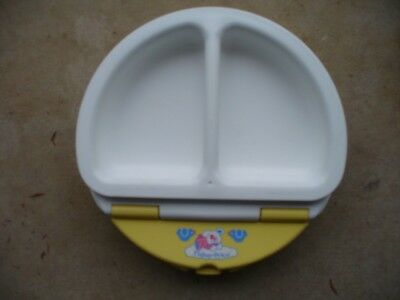 Vintage Fisher Price Baby Infant Child Handled Divided Warming Dish Bowl