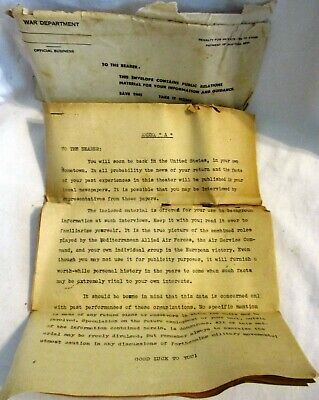 "WWII Estate, War Department, ""Historical Public Relation Documents for Soldiers"""