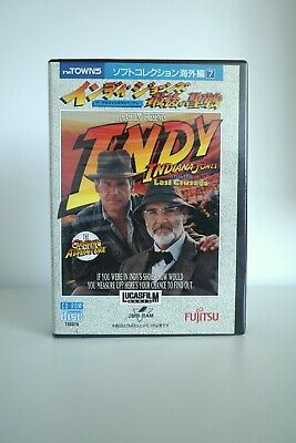 INDIANA JONES and the Last Crusade - FM TOWNS Marty - boxed