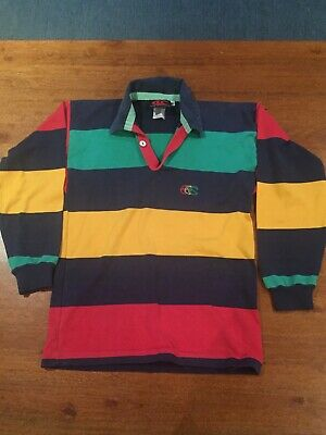 CANTERBURY ~ Kids Unisex Multi Coloured Cotton Polyester 'Ugly' Rugby Jersey 10