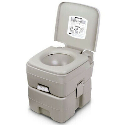 5 Gallon 20L Portable Flush Toilet Travel Camping Outdoor/Indoor Potty Commode