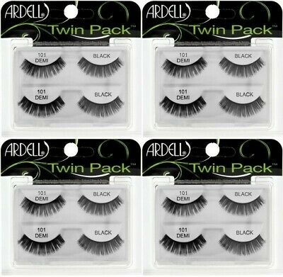 235662d7a55 (4) Ardell Twin Pack Lashes 101 Demi Black Faux Lashes False Eyelashes