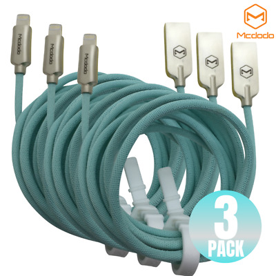 3Pack 2M Mcdodo Lightning Cable Heavy Duty Charger Charging Cord iPhone Xs X 8