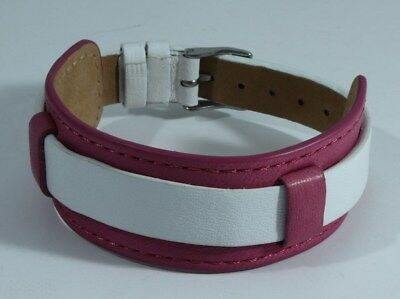 Guess Leather Watch Band Bracelet Buckle Pink White Never Worn