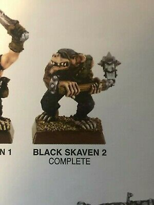 Mordheim Clan Eshin Black Skaven 2 BRAND NEW SEALED metal OOP RARE!