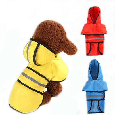 Dog Coat Waterproof Jacket Raincoat Reflective Harness Small Medium Large Extra