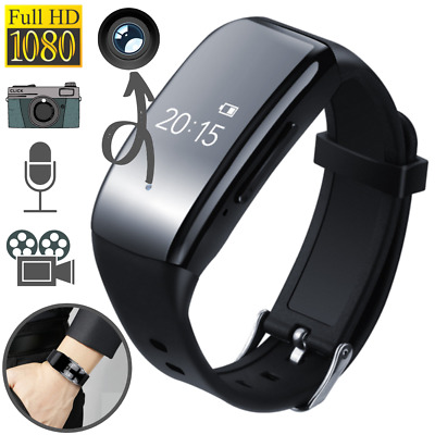 Mini Spy Voice Recorder Watch Camera 1080P HD Voice Activated Wristband 16/32GB