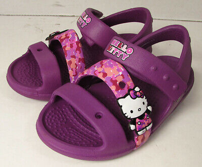 fa2ea1ee8 $49.99 Crocs Girls Keeley Hello Kitty Camo Sandal Shoes, Viola, US 6 Toddler
