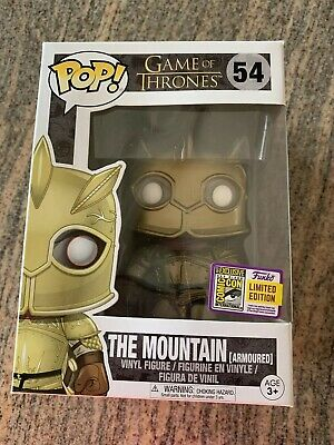 Funko Pop! Game Of Thrones The Mountain Armoured Official SDCC sticker!