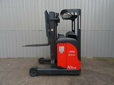 LINDE R16s USED ELECTRIC REACH FORKLIFT TRUCK. ( #2456 )