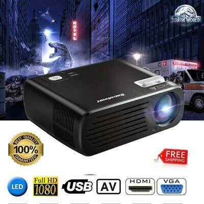 Excelvan BL-23 Mini proyector LED HD Projector 1080P 3D HDMI USB ATV VGA AV Y Pb
