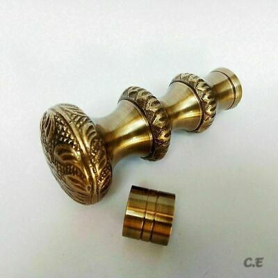 Party Wear Long 3 Round Royal Style Brass Handle Victorian Wooden Walking Cane