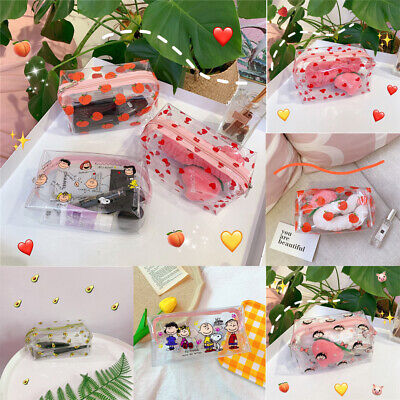 Portable Travel Waterproof Transparent Cosmetic Bags Storage Pouch Makeup Case