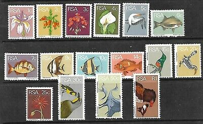 SOUTH AFRICA Postage Stamps 1974 SG 348/363 MNH