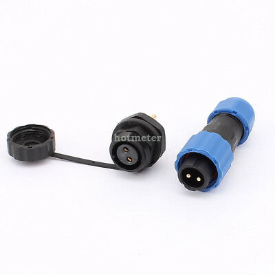 H● SD13 13mm 2P Flanged Waterproof Aviation Cable Connector Socket.