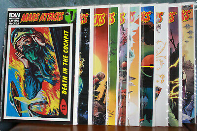 Mars Attacks complete Comic series issues 1-10 IDW Comics 2012