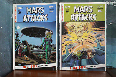 Mars Attacks incomplete Comic series issues 1 & 2 IDW Comics 2014