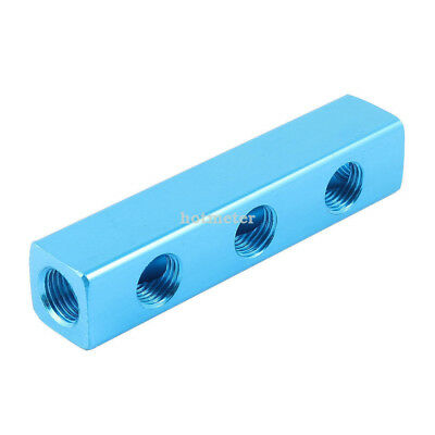 "H● 1/4"" PT Thread 6 Ports Quick Connector Air Hose Manifold Block Splitter."