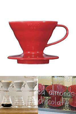 NEW VD 01R 1 Piece Plastic Coffee Dripper Red The V60 01 Coffee Dripper UK STOCK