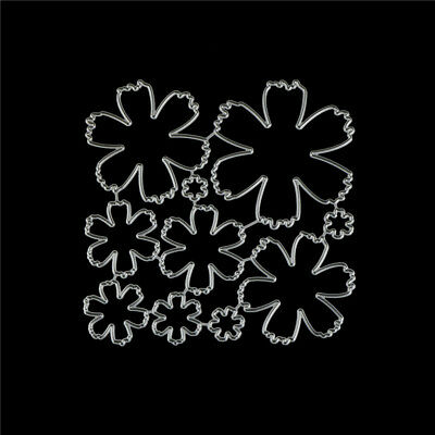 10Pcs Flower Design Metal Cutting Die For DIY Scrapbooking Album Paper Cards~GN