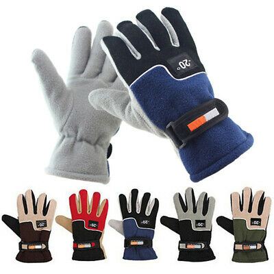 Mens Womens Winter Warm Gloves Polar Fleece Sports Thermal Glove Proof Cycling