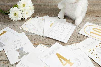 Bambino Little Star Baby First Milestone Cards with foil - Mum/Gift/Shower/Love