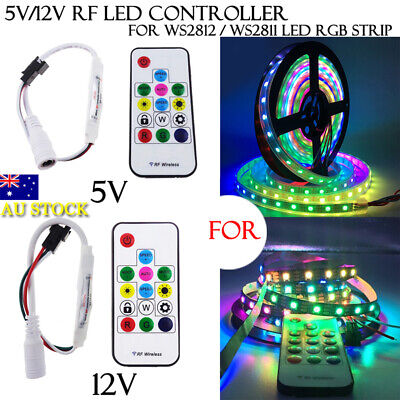 5V /12V RF WS2812B/WS2812/WS2811 LED RGB Strip Controller 14Key Wireless Remote