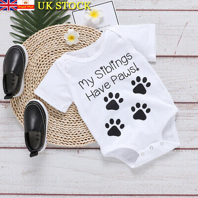 Newborn Baby Girls Boys Outfit Clothes Toddler Short Sleeve Romper Jumpsuit Tops